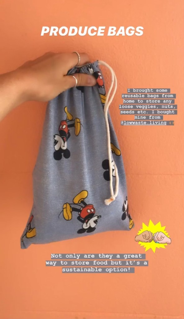 spellbound travels produce bags
