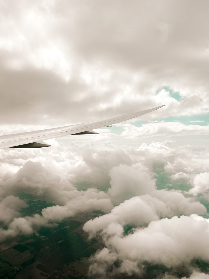 spellbound traels air canada flight view