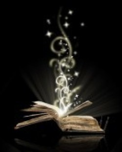 10846267-opened-book-magic-on-black Casting Spells