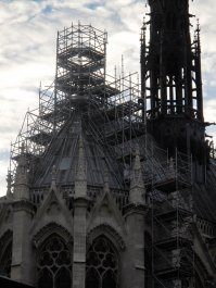 Scaffolding on roof of Sainte Chapelle