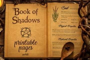 Grimoire Printable Pages Book of Shadows
