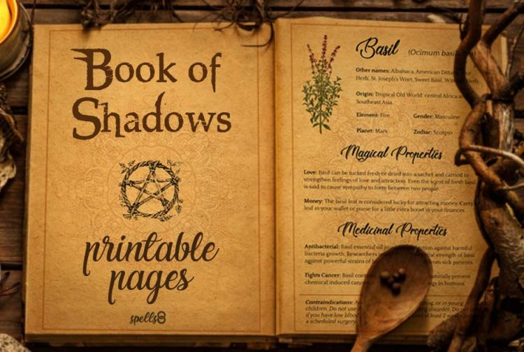 photo relating to Free Printable Book of Shadows Pages named Wicca for Inexperienced persons: Free of charge Printable E-book of Shadows Grimoire