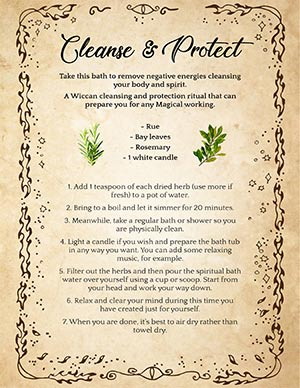 Cleansing Bath Recipe Spell