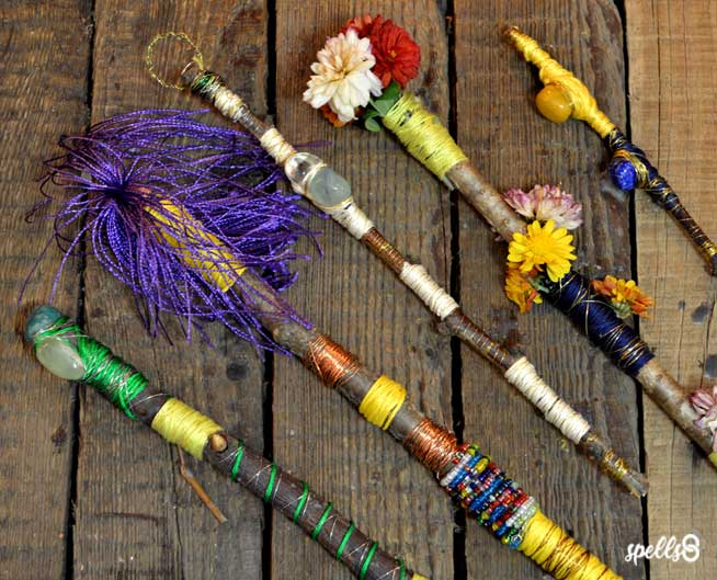 Magic Wands Wicca Witchcraft Spells