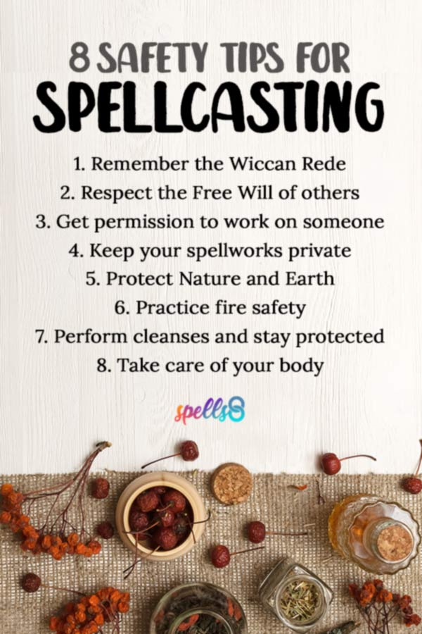 Tap to Pin it: Protection and Safety Rules before Spellcasting
