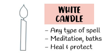 White candle meaning spells