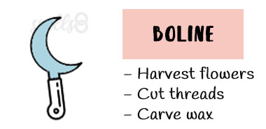 Boline Witchcraft tools