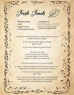 Fresh Funds Money Spell with Basil