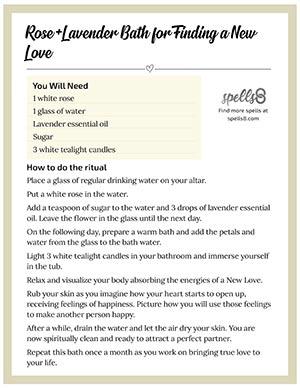 Print: Rose+Lavender Bath Spiritual Cleanse for Love