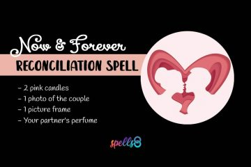 Reconciliation Spell with Pink Candle and Photo