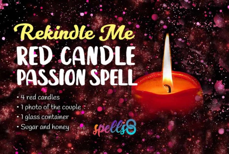 Rekindle Me Red Candle Passion Spell