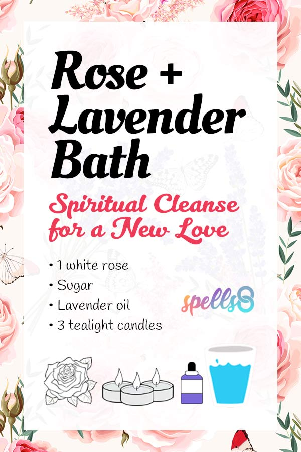 Rose+Lavender Bath for Finding a New Love: Cleansing Ritual