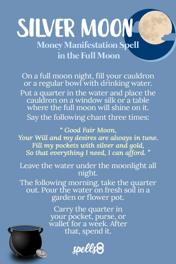'Silver Moon': Money Manifestation Spell in the Full Moon