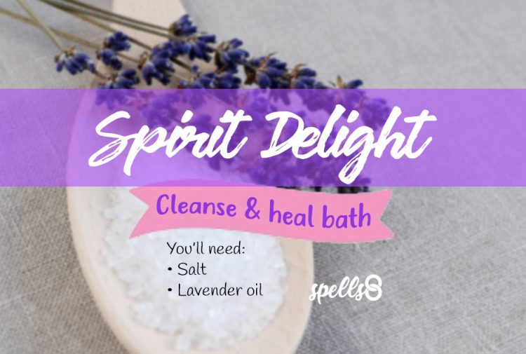 'Spirit Delight': Cleansing Bath with Salt & Essential Oils