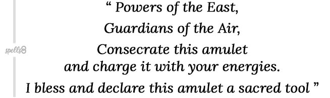 Consecrate an amulet