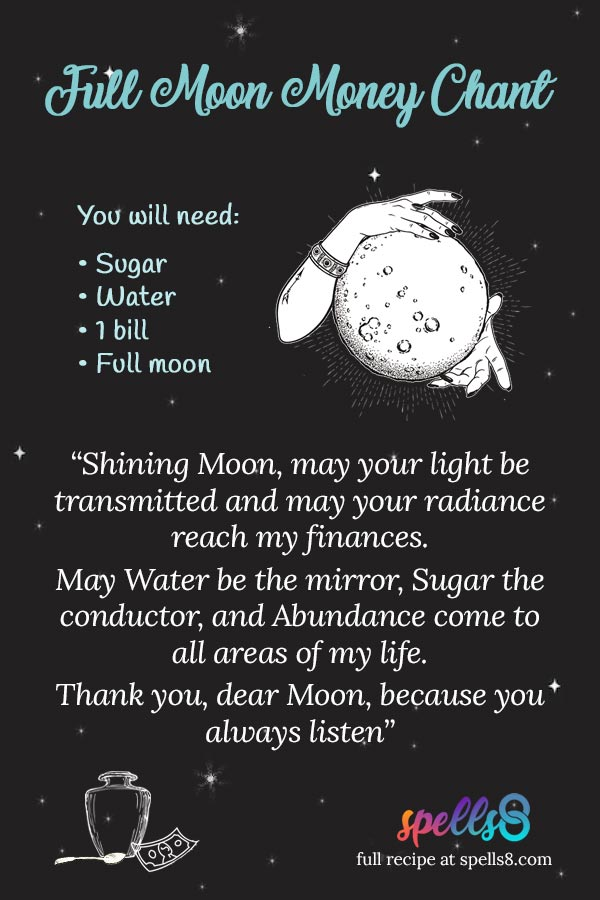 Moon Boon Chant Full Moon Wiccan Magic To Attract Money