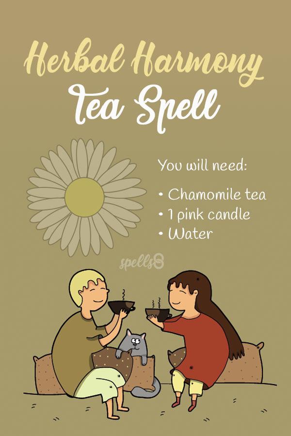 'Herbal Harmony': Tea Spell for Fr- Spells8endship & Love