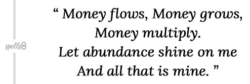 Chant ritual for money