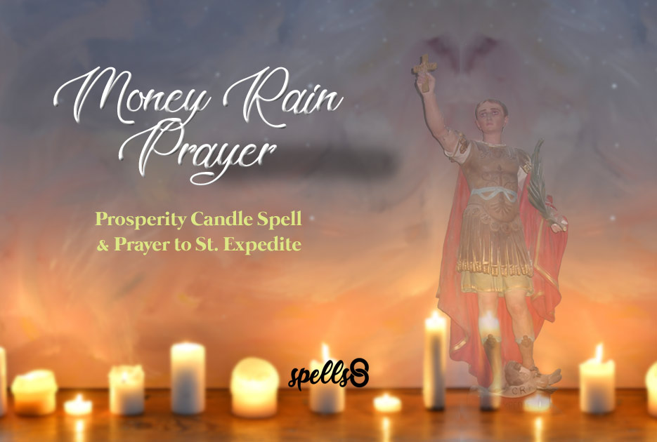 Money Rain Spell with a Catholic Candle Prayer
