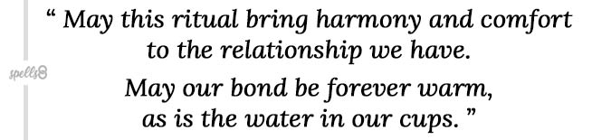 Reconciliation herbal tea spell