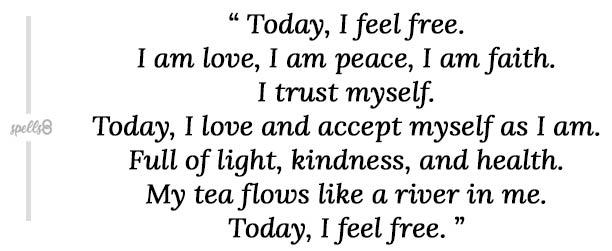 self love morning ritual tea spell