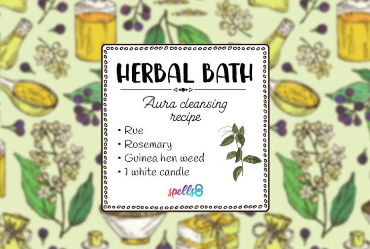 Herbal Aura Cleansing: Spiritual Bath Spell for Good Luck