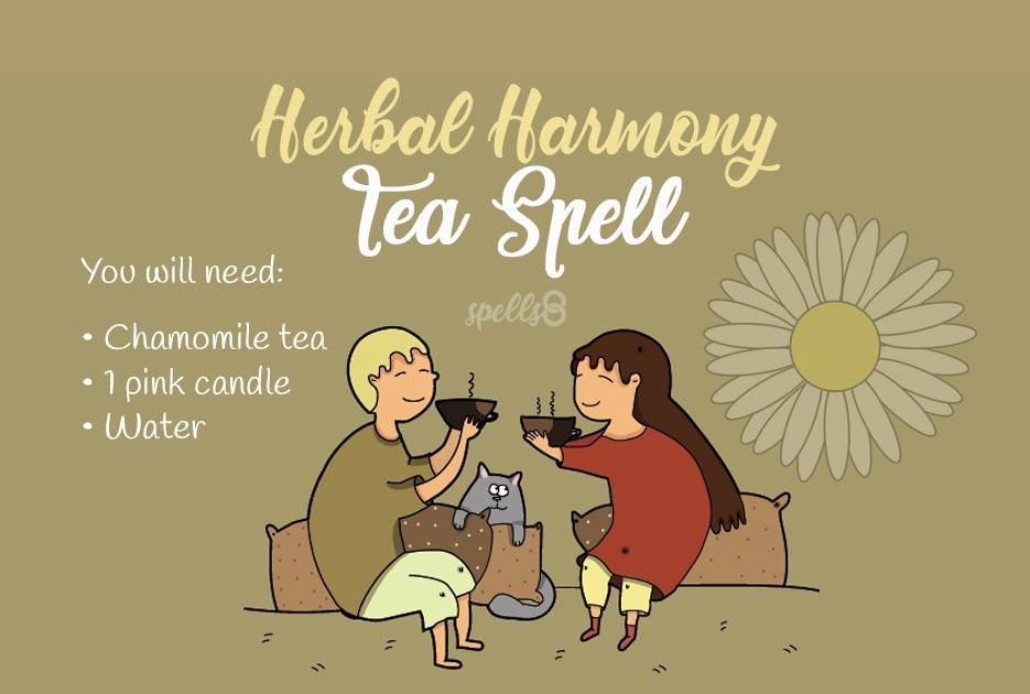 Tea herbal love spell