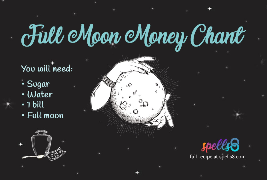 Wiccan Full Moon money spell