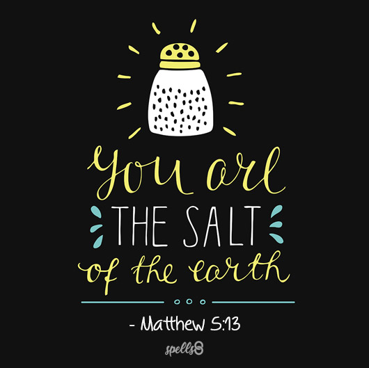 """""""You are the Salt of the Earth"""" - Matthew 5:13"""