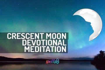 Crescent Moon Wiccan Prayer