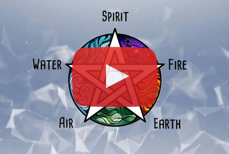 Elements of Wiccan Wisdom, Fire Earth Air Water Spirit