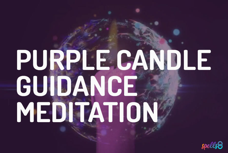 Purple Candle Spiritual Guidance Meditation