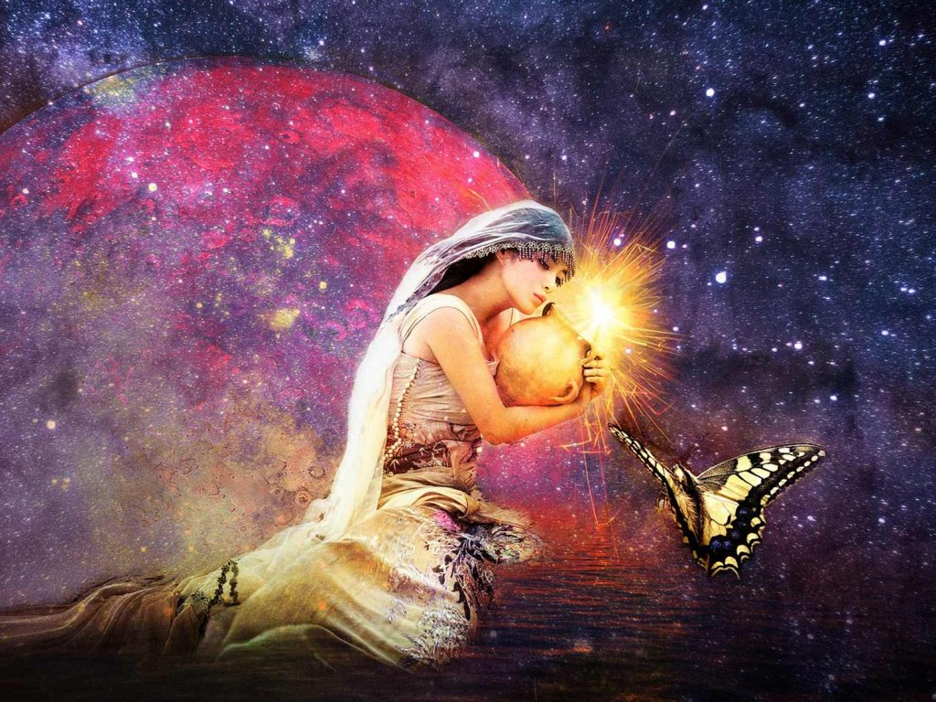 Witch Goddess Wallpaper