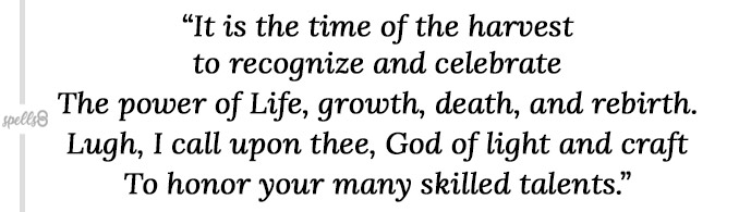 Lughnasadh wiccan prayer
