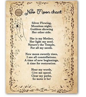 New Moon Wiccan Prayer