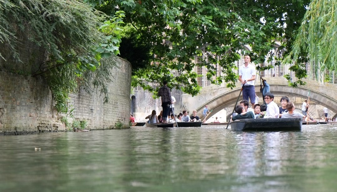 Day 7: Punting in Cambridge, England