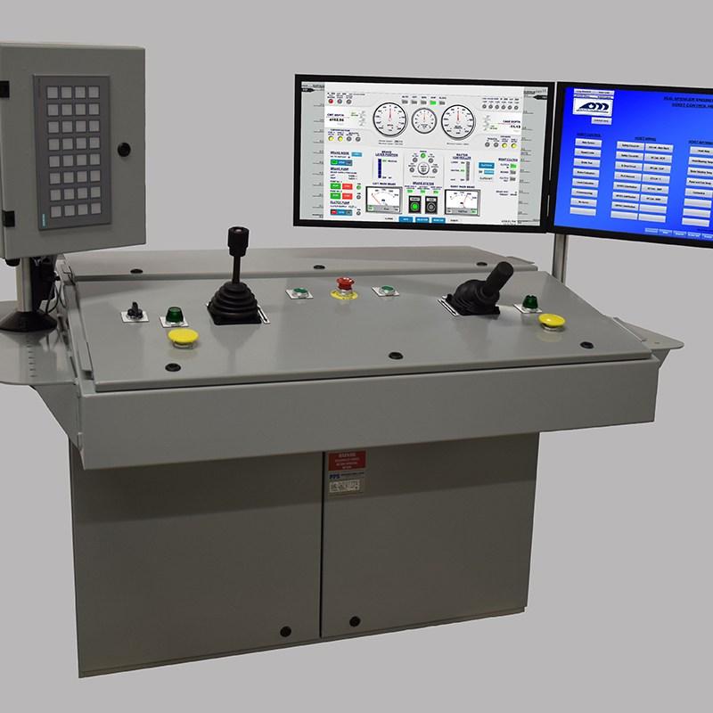 Mine Hoist Control Operator Console