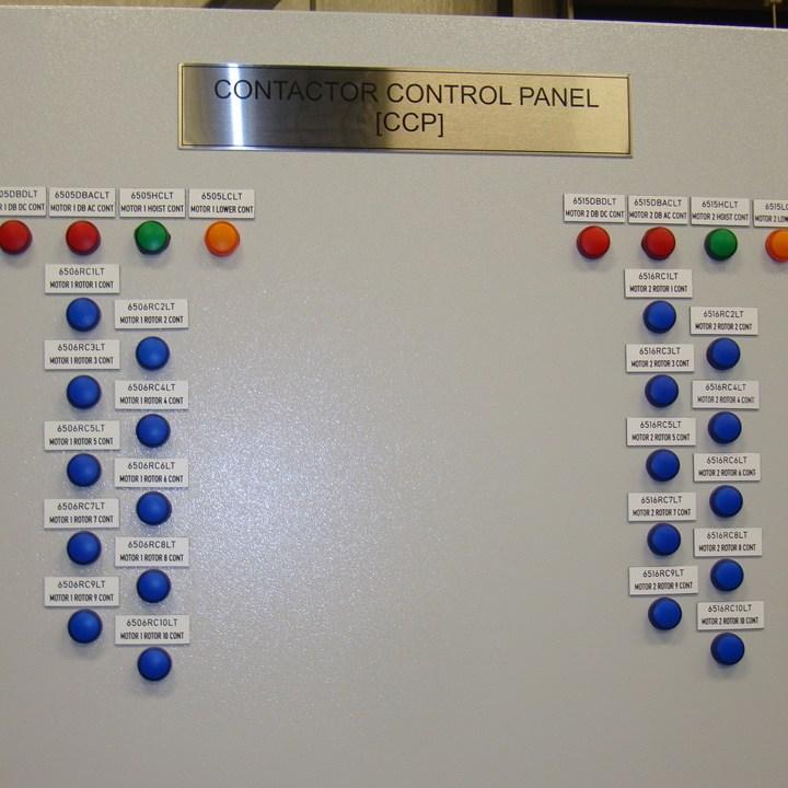 Mine hoist control panel