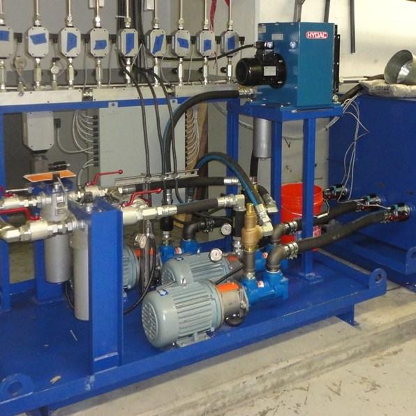 Hoist bearing lubrication system