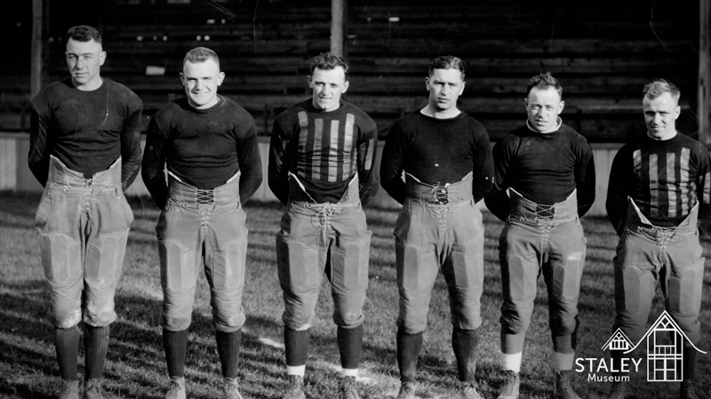 Histotic image of Decatur Staleys Hall of Fame football players