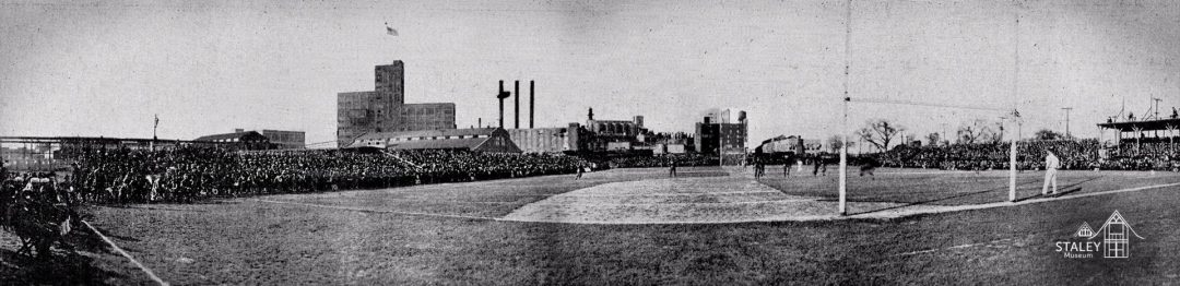 Panoramic image of historic Staley Field
