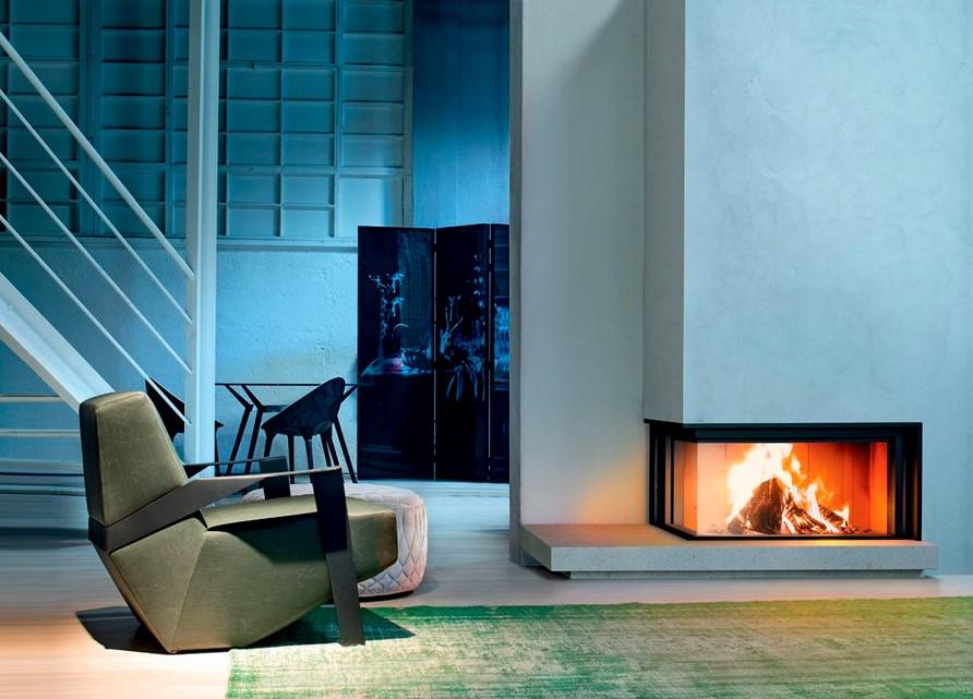 title | Modern Corner Fireplace