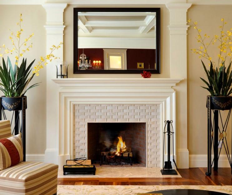 17+ Modern Fireplace Tile Ideas, Best Design !!