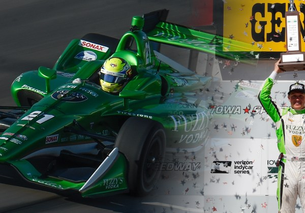 Pigot Earns First IndyCar Podium With Second Place Finish at Iowa Speedway