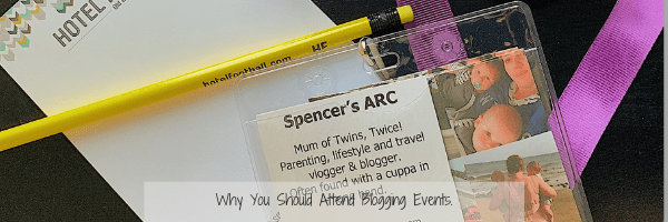 Attending a blogger event title - Lanyard and business cards