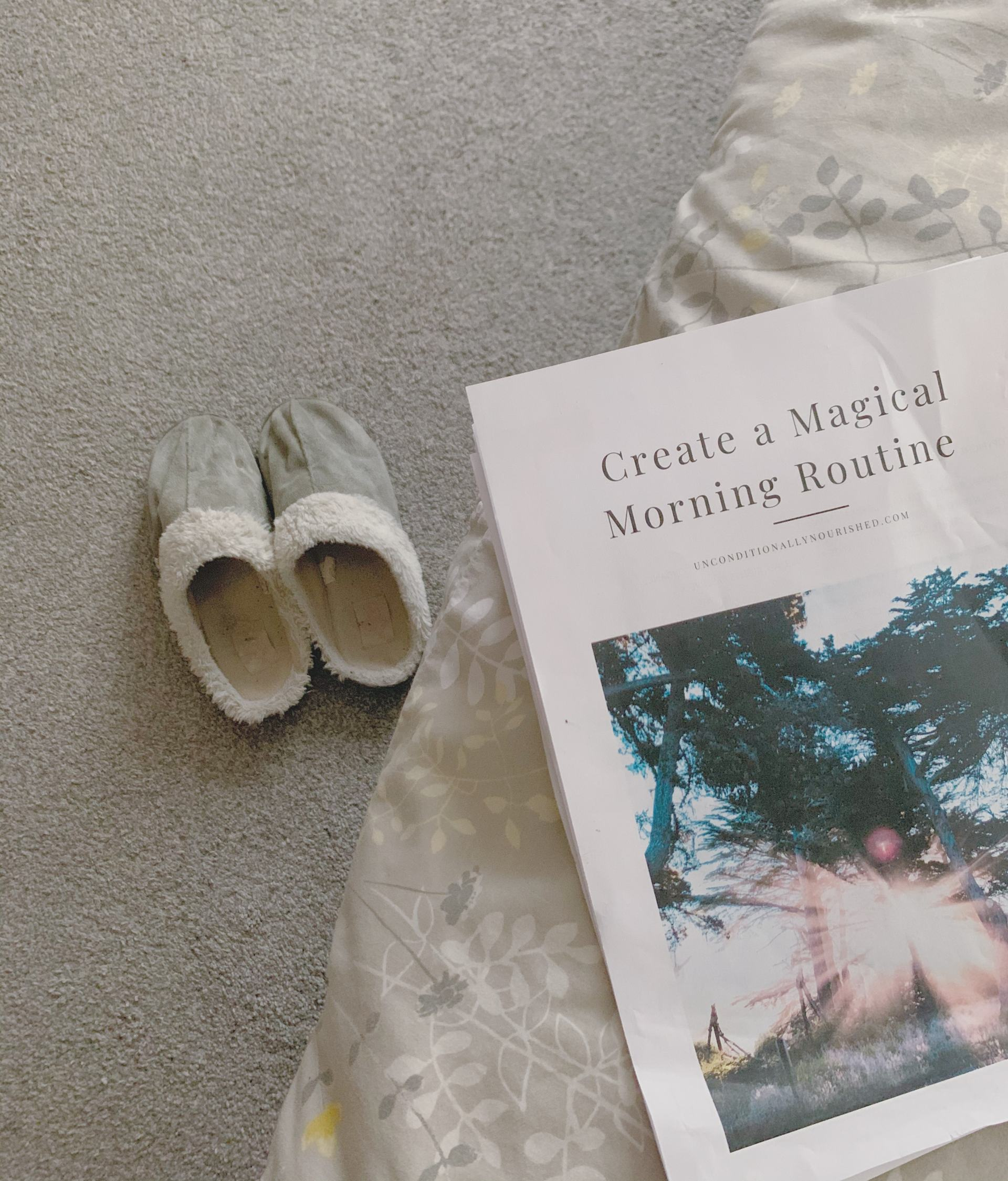 Magical morning slippers