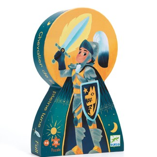 Djeco Silhouette Puzzle – Full Moon Knight