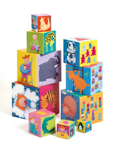 Djeco Stacking Cubes – Funny Blocks