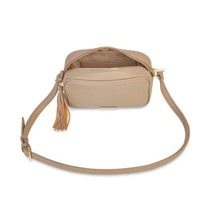 Katie Loxton Sophia Tassel Crossbody Bag – Taupe