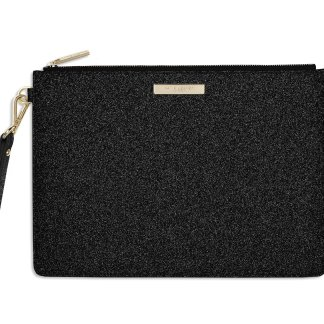 Katie Loxton Zara Clutch Bag – Stardust Black